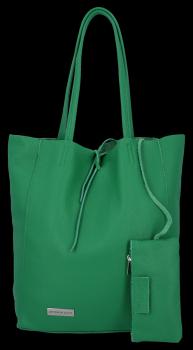 Kožené kabelky VITTORIA GOTTI Shopper bag Dračí zelená