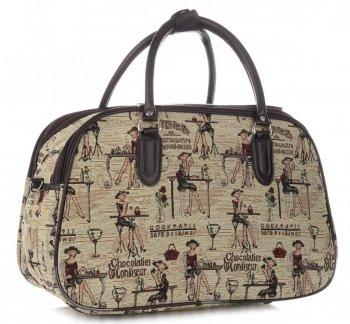 STŘEDNÍ cestovní taška kufřík Or&Mi Chocolatier Multicolor - béžová
