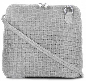 Malé kožené kabelky listonošky Genuine Leather šedá