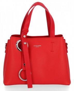 Elegantní Kabelka Listonoška Kufřík David Jones Červená