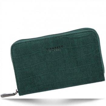 Elegantní Dámská Peněženka Diana&Co Lahvově Zelená
