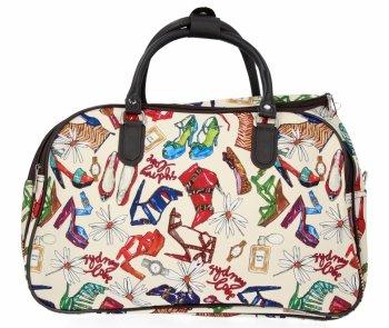 Velká Cestovní Taška Kufřík Or&Mi Shoes Multicolor - Béžová