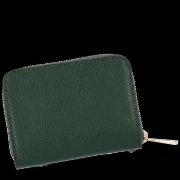 Vittoria Gotti Dámská Kožená Peněženka Made in Italy Lahvově Zelená