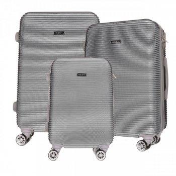 Super sada italských kufrů Or&Mi 3 v 1 stříbrná