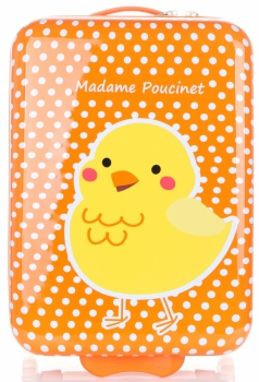 Módní Palubní kufřík pro děti s kuřátkem Madisson multicolor - oranžová