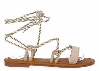 Béžové univerzální dámské sandály Givana