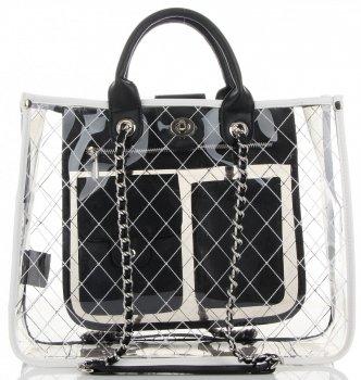 Transparentní Dámské Kabelky Kufříky Diana&Co Černá