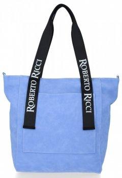 Módní Dámské Kabelky Shopper XL Roberto Ricci Modrá