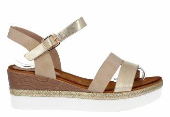 Béžové dámské sandály na platformě Lady Glory