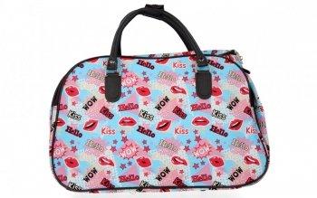 Malá Cestovní Taška Kufřík Or&Mi Kiss Multicolor - Modrá