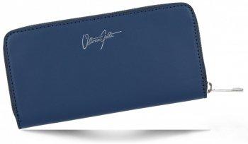Vittoria Gotti Elegantní Dámská Kožená Peněženka Made in Italy Tmavě Modrá