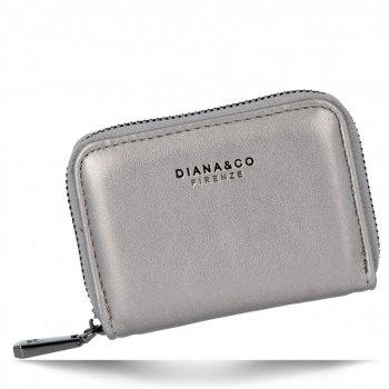 Univerzální Dámská Malá Peněženka Diana&Co Tmavě stříbrná