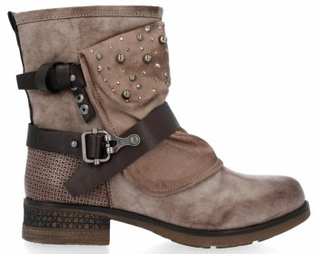 Khaki módní kotnikove boty Rita
