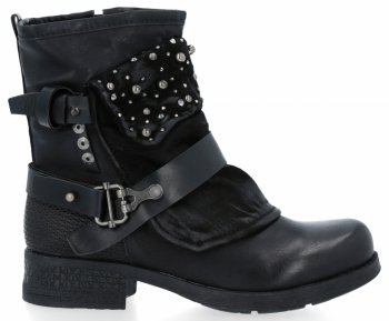 Černé módní kotnikove boty Rita