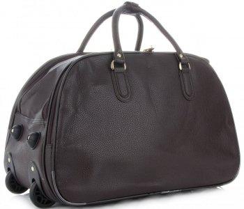 Cestovní taška na kolečkách s výsuvnou rukojetí Or&Mi Čokoládová