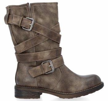 Khaki univerzální kotníkové boty Verona