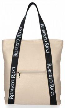 Módní Dámské Kabelky Shopper značky Roberto Ricci Zlatá