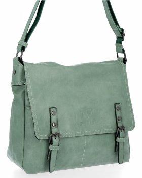 BEE BAG Velká Kabelka Listonoška Adelia Vintage Style Světle Zelená