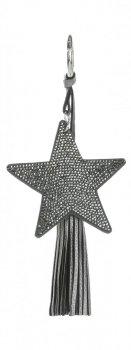 Dvoustranný Přívěšek ke kabelce Stars se zirkony a silným střapcem iron