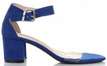 Modní Dámské Sandály na podpatku Bellucci Modré