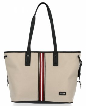 Módní Dámské Kabelky Shopper Bag David Jones Béžová