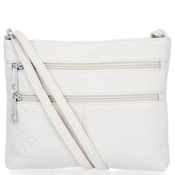BEE BAG Univerzální Dámská Kabelka Listonoška Blanca Bílá