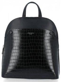 Eleganckie Plecaczki Damskie z motywem aligatora firmy David Jones Czarny
