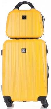 Walizki renomowanej firmy Madisson Zestaw 2w1 Żółta