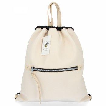 BEE BAG Torebka Damska Worek typu Shopper Bag Beatrice Beżowa
