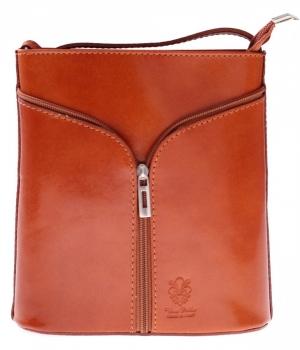 Skórzana torebka listonoszka Made in Italy Ruda