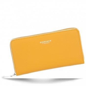 Uniwersalne Portfele Damskie firmy Diana&Co Żółty