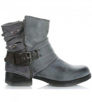 Botki Damskie firmy Crystal Shoes Szare