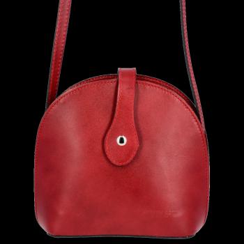 Elegancka Listonoszka Skórzana firmy Vittoria Gotti na każdą okazję Czerwona