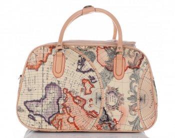 Mała Torba Podróżna Kuferek Or&Mi World Multikolor - Beżowa
