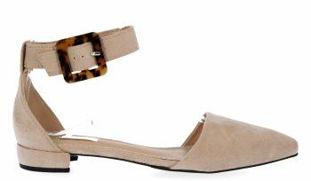 Beżowe eleganckie sandały damskie firmy Bellucci