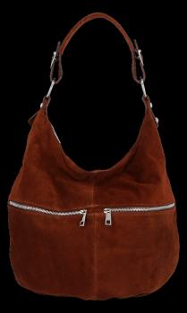 Uniwersalna Torebka Skórzana Genuine Leather Brązowa