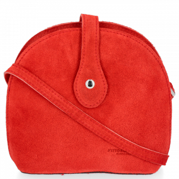 Vittoria Gotti Uniwersalna Listonoszka Skórzana do noszenia na co dzień Czerwona