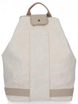 Uniwersalny Plecak Damski XXL firmy Diana&Co Beżowy