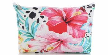 Modne Kosmetyczki w rozmiarze S marki David Jones wzór w kwiaty Multikolor Różowa
