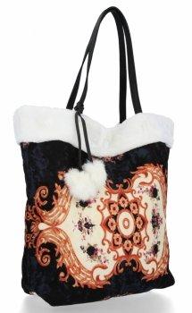 BEE BAG Torebka Damska Shopper XL Boho Style Biała