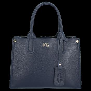 Vittoria Gotti Klasyczny Kuferek Skórzany Made in Italy Granat