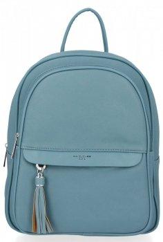 Uniwersalny Solidny Plecak Damski z kieszenią na tablet firmy David Jones Niebieski