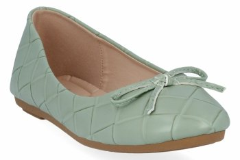 Zielone modne balerinki damskie firmy Sergio Todzi