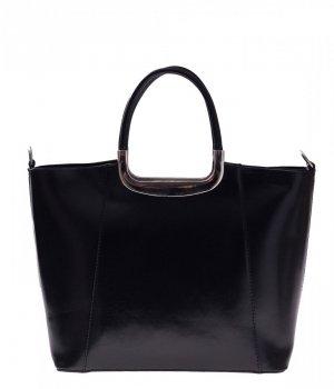 Skórzany kuferek do Ręki z długim paskiem Czarny