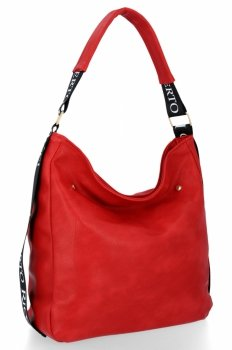 Uniwersalne Torebki Damskie do noszenia na co dzień firmy Roberto Ricci Czerwona