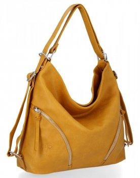 BEE BAG Uniwersalne Torebki Damskie z funkcją plecaczka Madison Żółta