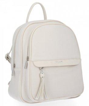 Uniwersalny Solidny Plecak Damski z kieszenią na tablet firmy David Jones Beżowy