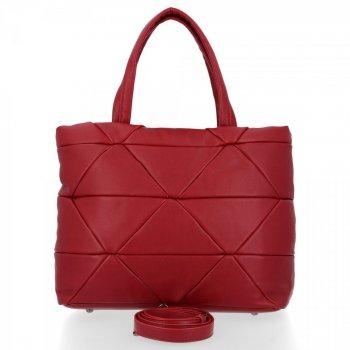 Modna Torebka Damska Herisson Shopper Bag Czerwona