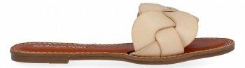 Beżowe plecione klapki damskie firmy Sergio Todzi