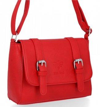 BEE BAG Torebka Damska Listonoszka Vintage Bag Czerwona